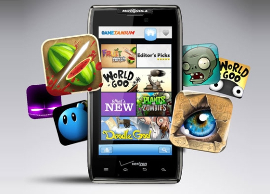 An image of some different games available for download and play on mobile devices.
