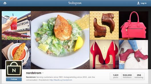 Nordstrom's Instagram Page