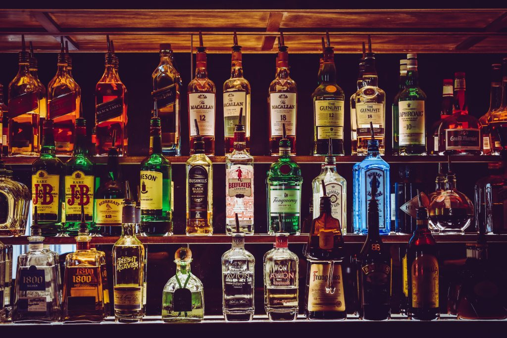 Photo of wine and liquor bottles by Chris F from Pexels