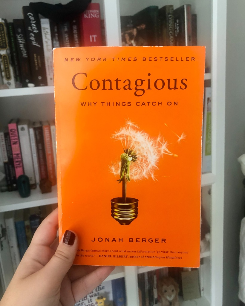 The cover of Contagious why things catch on by Jonah Berger